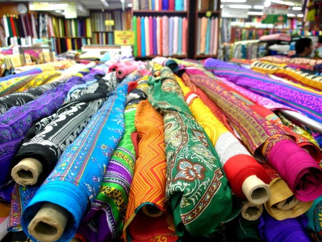 Shop for colourful fabrics at Mustafa