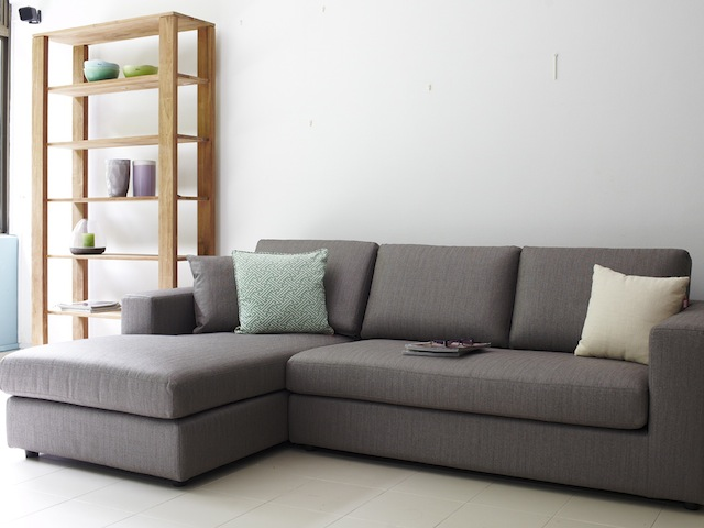 Lodge Style Leather Sofa
