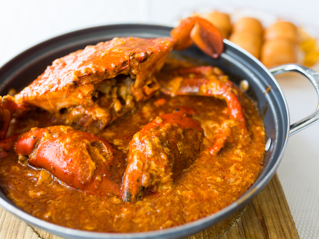 ... Singapore's national dishes: The Chilli Crab (Credits: Jumbo Seafood