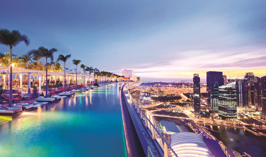 Singapore Hotel With Infinity Pool On Rooftop Image Infinity Pool Night 1000x577
