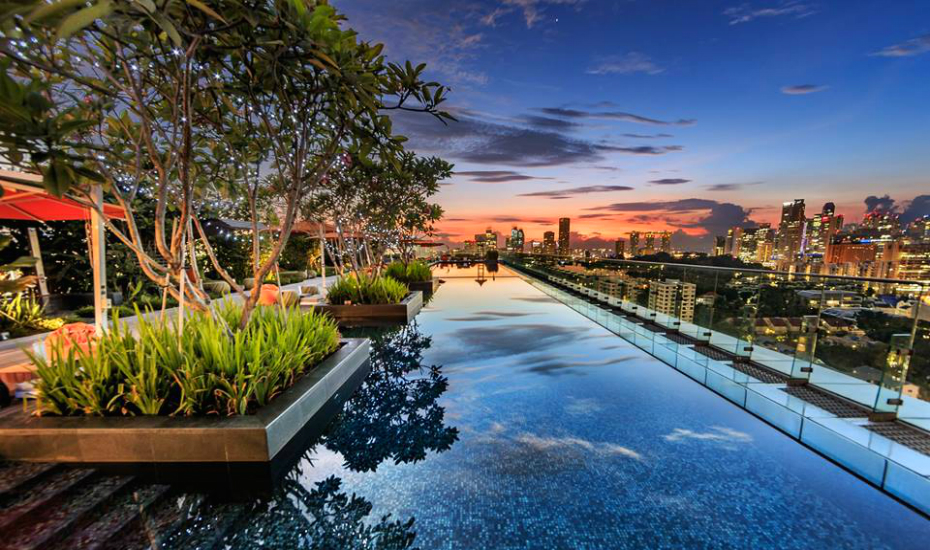 Singapore Hotel With Infinity Pool On Rooftop Image Hotel Jen Orchardgateway Singapore