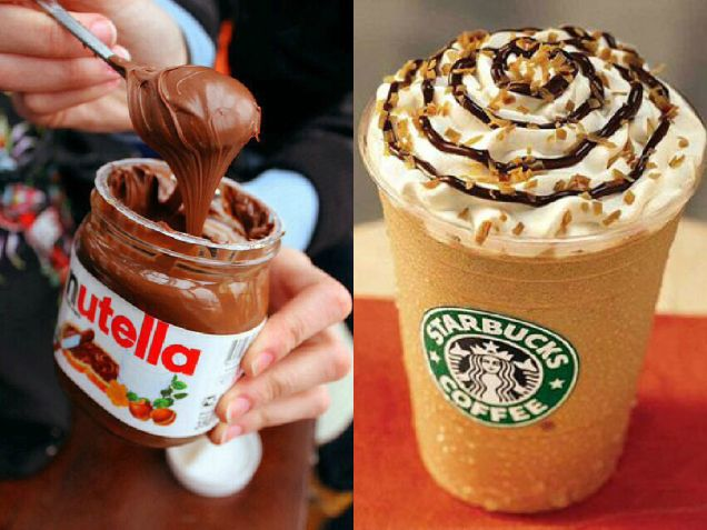 Starbucks mastered the art of creating drinkable Nutella with mocha and hazelnut syrup over a regular frappe