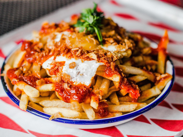 Sambal Fries - a new addition to the menu and an homage to the Singapore outpost