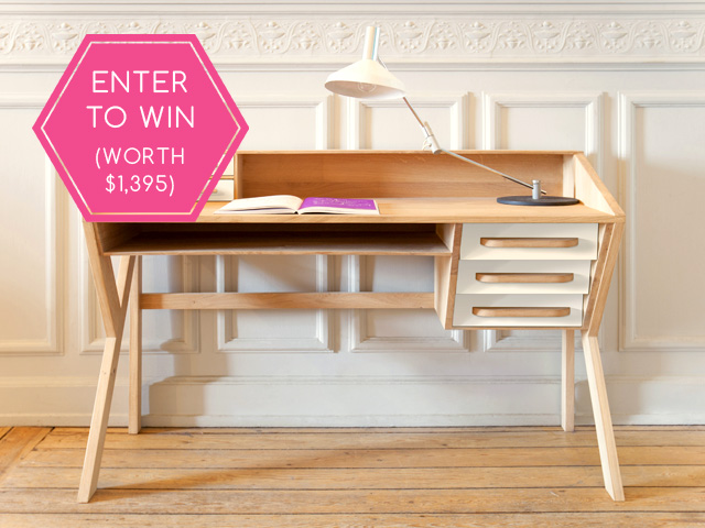 A sleek and chic Mr. Marius desk - up for grabs!