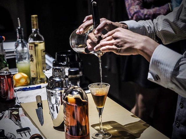Owner and head bartender of Shin Gi Tai, Anthony Zhong, whips up one of the best cocktails in town