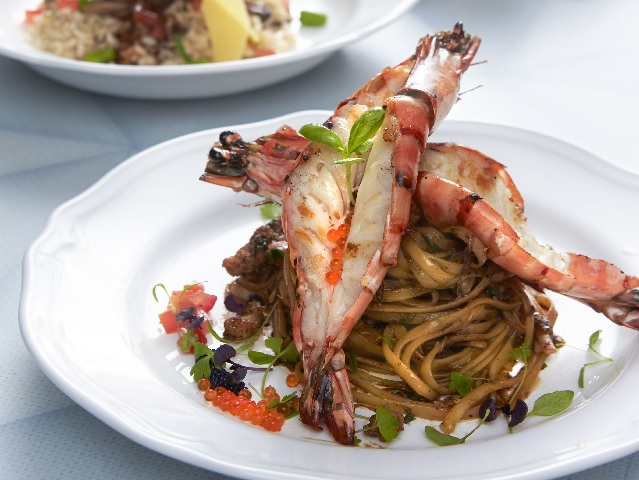 Another must-order: Skinny Pizza's black pepper prawn linguine