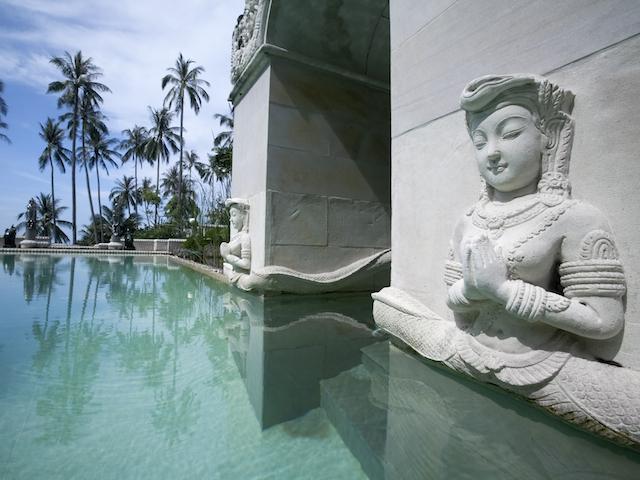 The leisure pool at Kamalaya