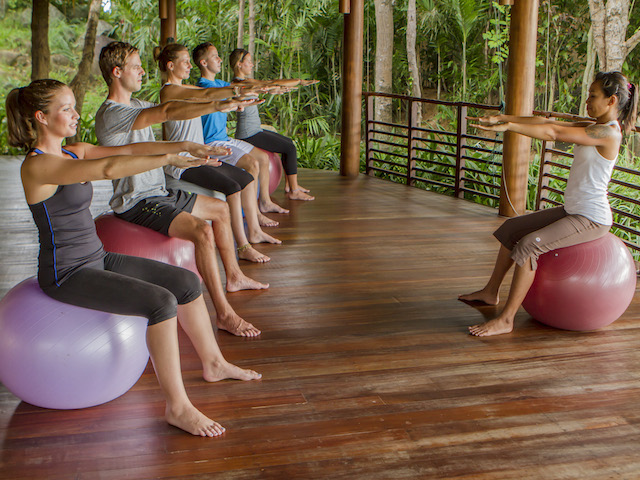 Take part in activities offered at the resort to get in shape