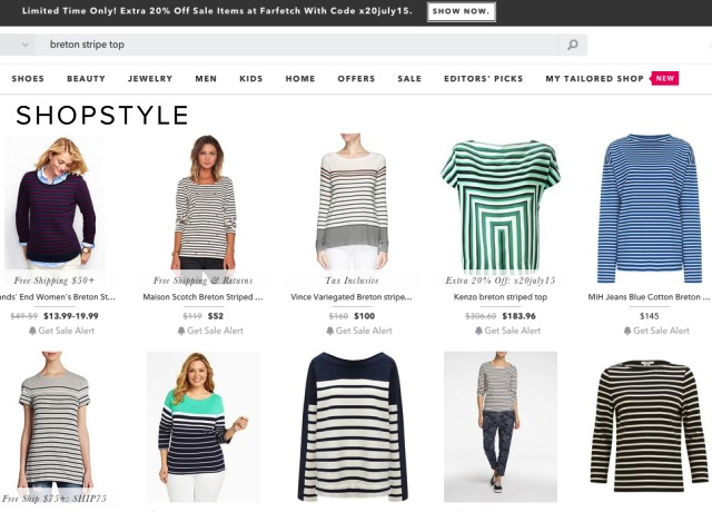 Forget Google; and try consolidation sites like ShopStyle.com