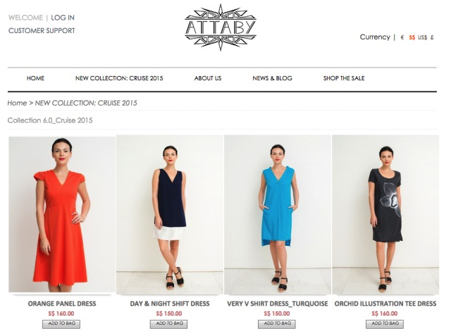 Stylish, lightweight apparel catered for Singapore's hot climate at Attaby.com