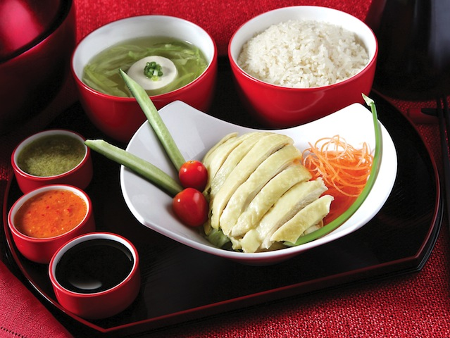 THE Singapore dish: Chicken rice! (Credits: Chatterbox)