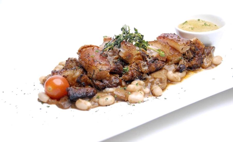 Chef Neo's signature pancetta arrosto at Pietro Ristorante Italiano (via Facebook)