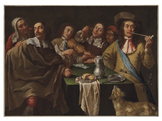A Tavern Interior with Soldiers Merrymaking Around a Table by Gregorius Oosterlinck - one of the rarely sighted masterpieces at The Collections Gallery