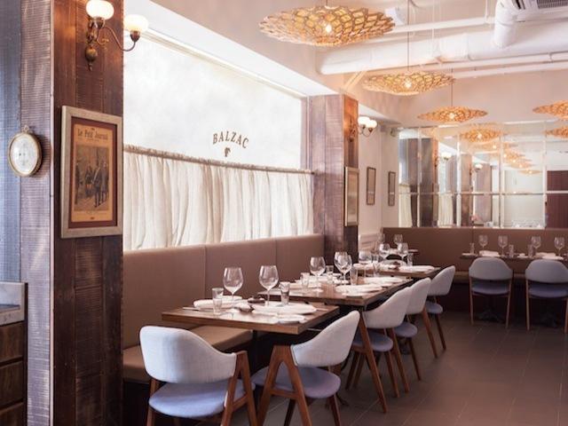 The classy interior of Balzac Brasserie