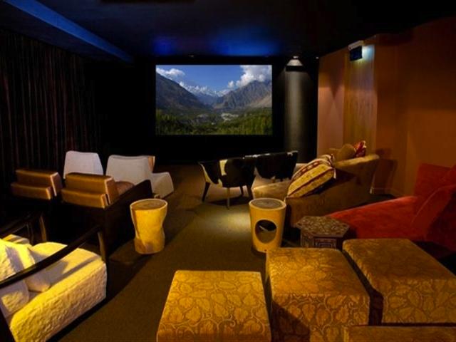 The swanky yet comfy looking Screening Room