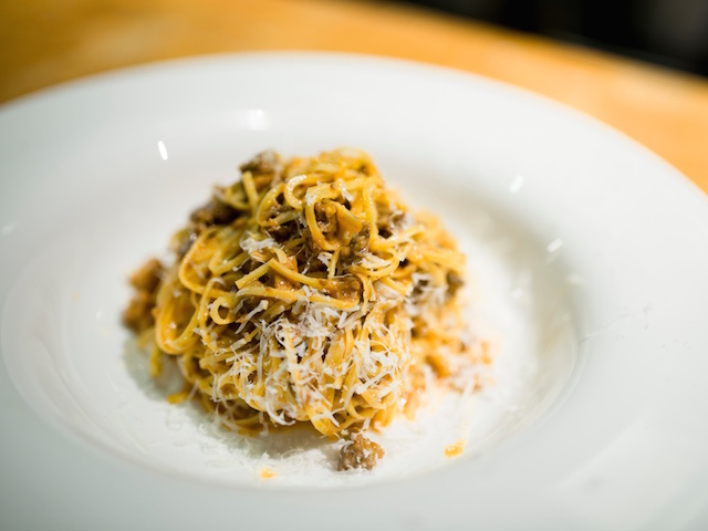 Spaghetti with uni and bottarga