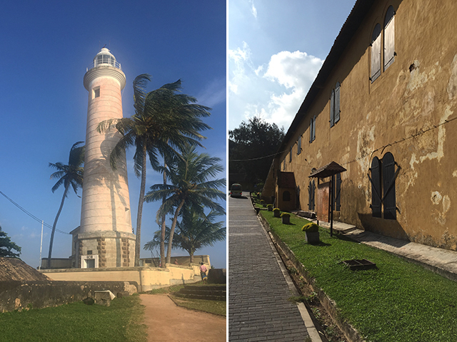 The lovely lighthouse and Dutch entrance of Galle Fort