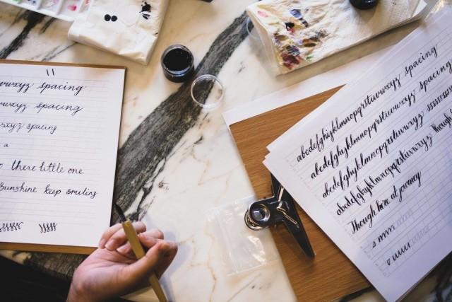 Med kärlek christmas workshop modern calligraphy singapore