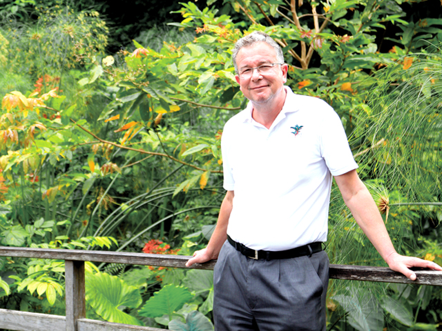 The director of Singapore Botanic Gardens, Dr. Nigel Taylor