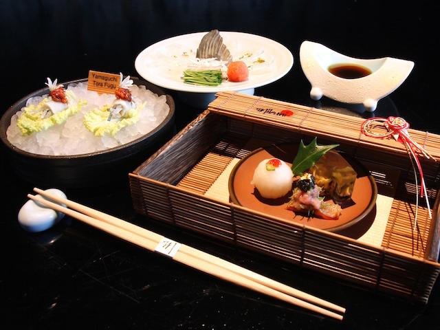 Fugu Grand Tasting Tour set menu at Mikuni, Fairmont Singapore