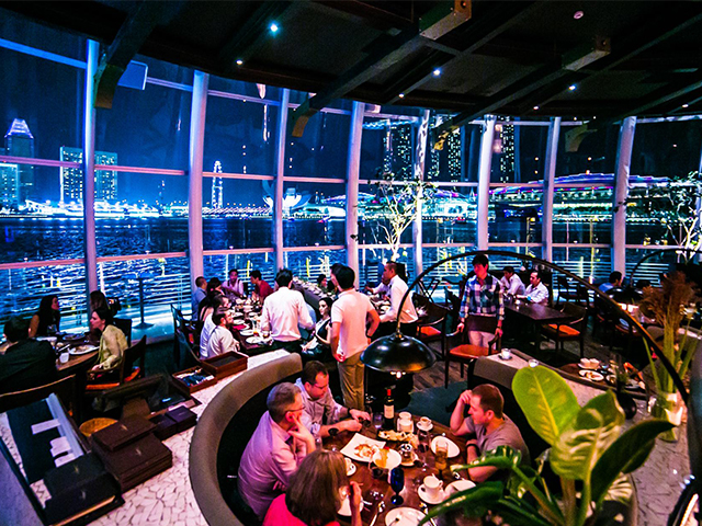 Enjoy the beautiful view of Marina Bay from Catalunya this New Year's Eve!