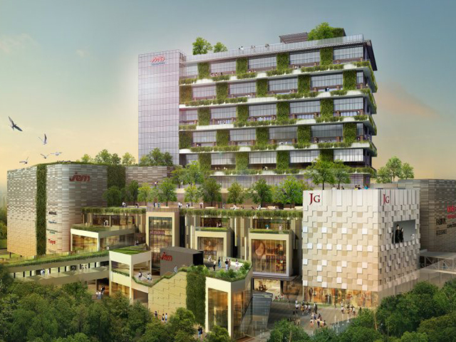 Artist impression of JEM in Jurong