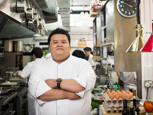 Chef, Jason Tan, the brains behind Corner House