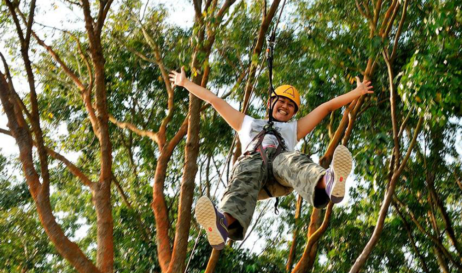 Climb amidst the treetops at Bedok Reservoir (Credits: Forest Adventure)