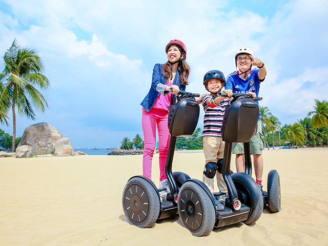 Ride on a segway and explore the beautiful beaches in Sentosa