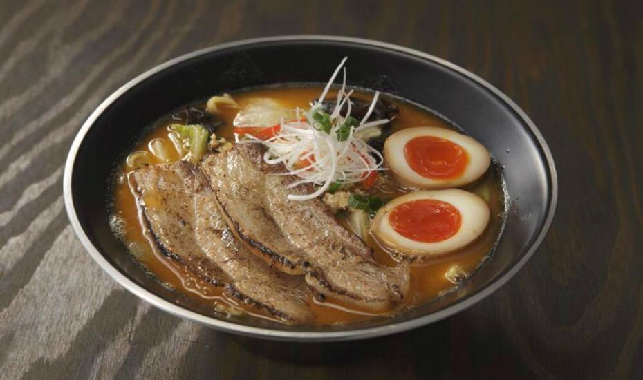 The miso ramen from Sanpoutei