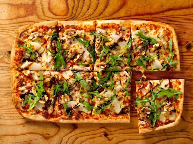 The five-spice pork belly pizza at Crust (Photo credit: Crust Gourmet Pizza Bar and Bar)