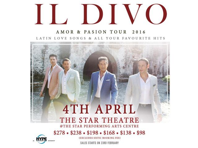 Il divo amor pasion tour singapore 2016 singapore - Il divo tickets ...
