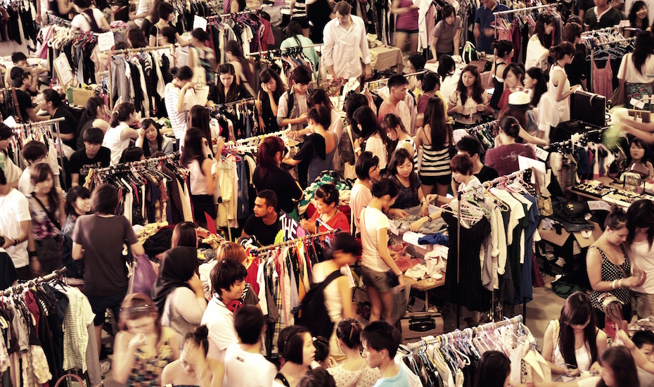 Go thrift shopping at a flea market (Photo credit inrime_nasrul via Flickr)