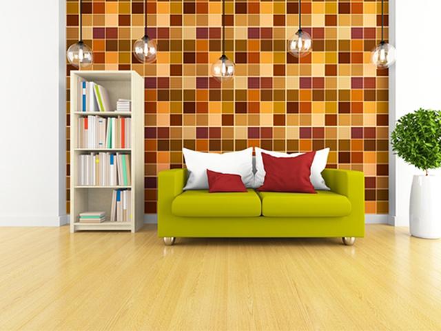 Retro chic living room