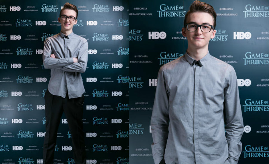 Isaac looking dapper and clean-cut at HBO Asia's roundtable interview