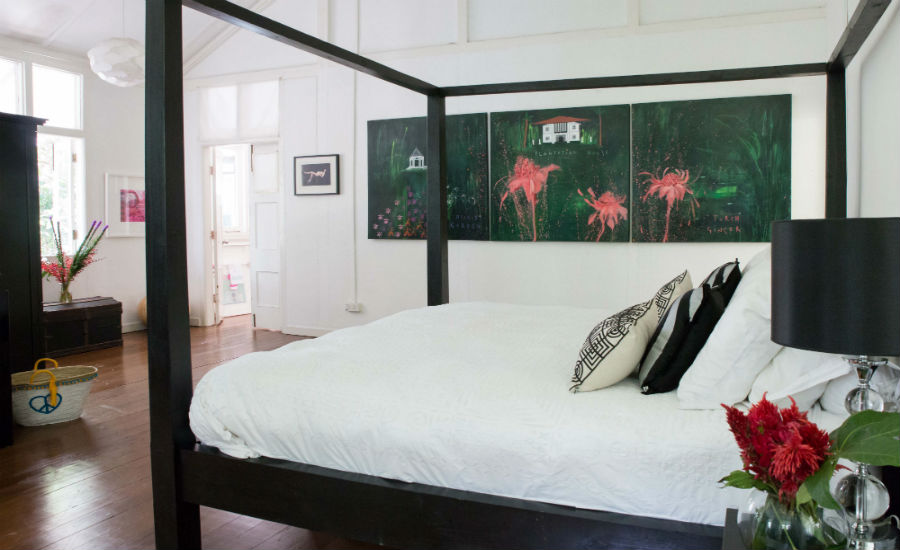 Clare's bedroom in Singapore