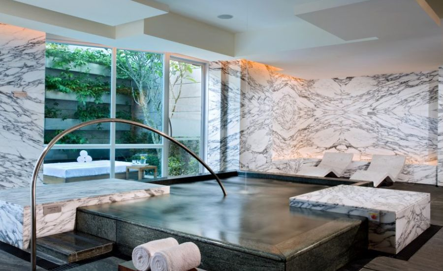 The chic Finnish Sauna at Remède Spa, The St. Regis Singapore