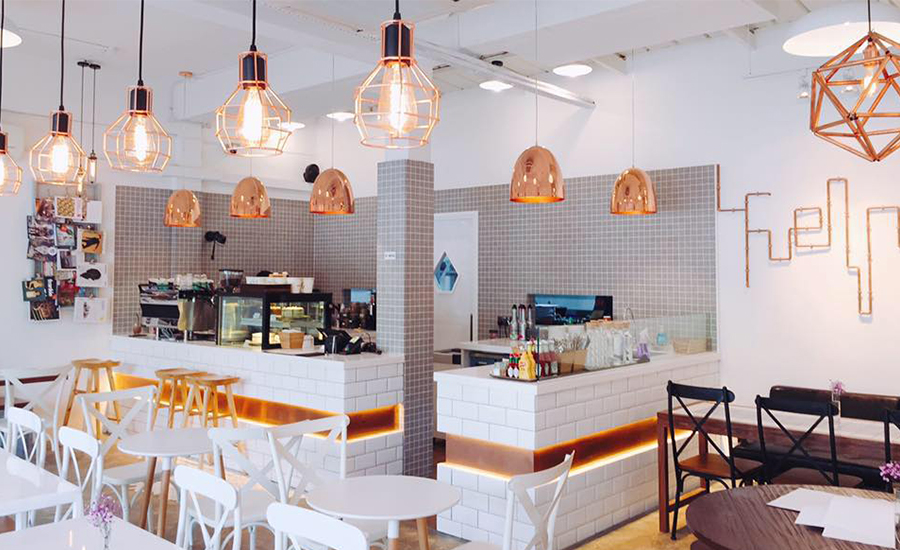 minimalist and clean interior of fuel plus - Minimalist Cafe 2016