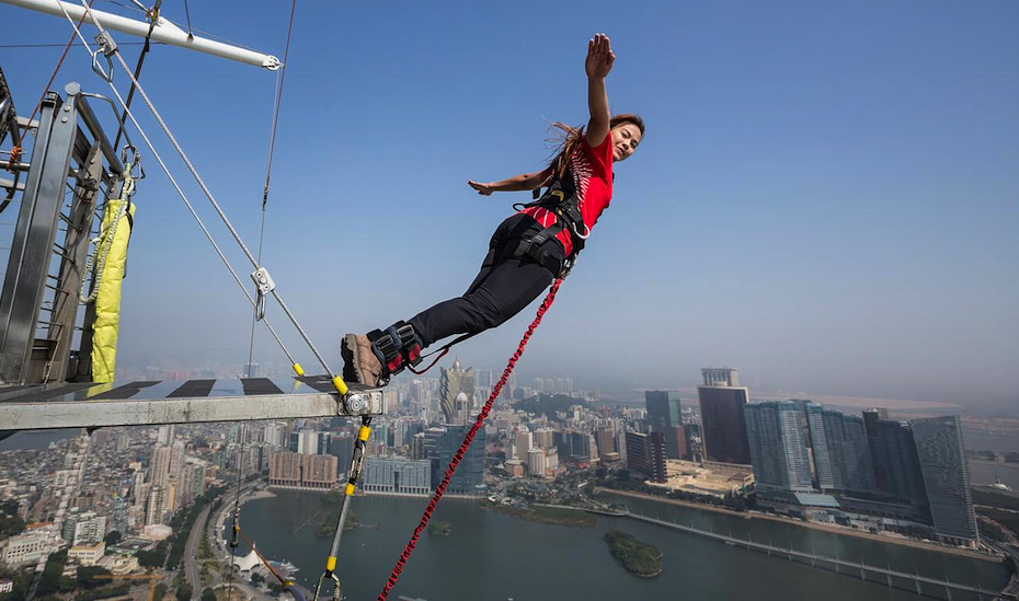 Taking a leap of faith off the Macau Tower