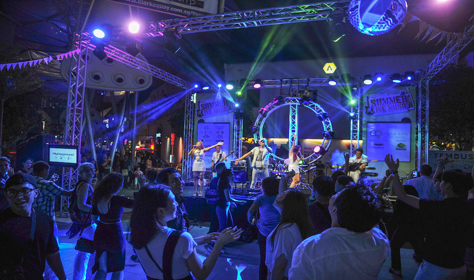 live in singapore clarke quay stages free gigs