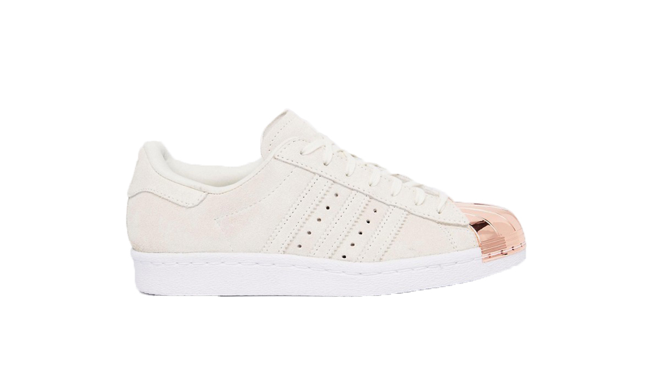 Adidas Originals Superstar 80s Rose Gold Metal Toe Cap Trainers copy copy