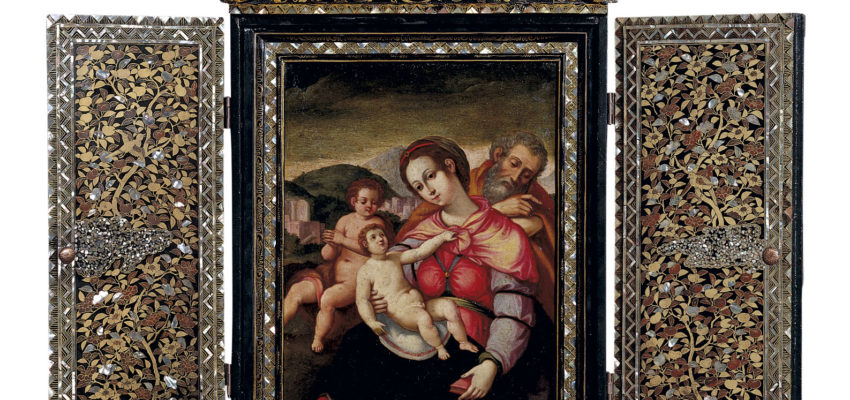 Shrine-with-a-painting-of-Holy-Family-with-John-the-Baptist