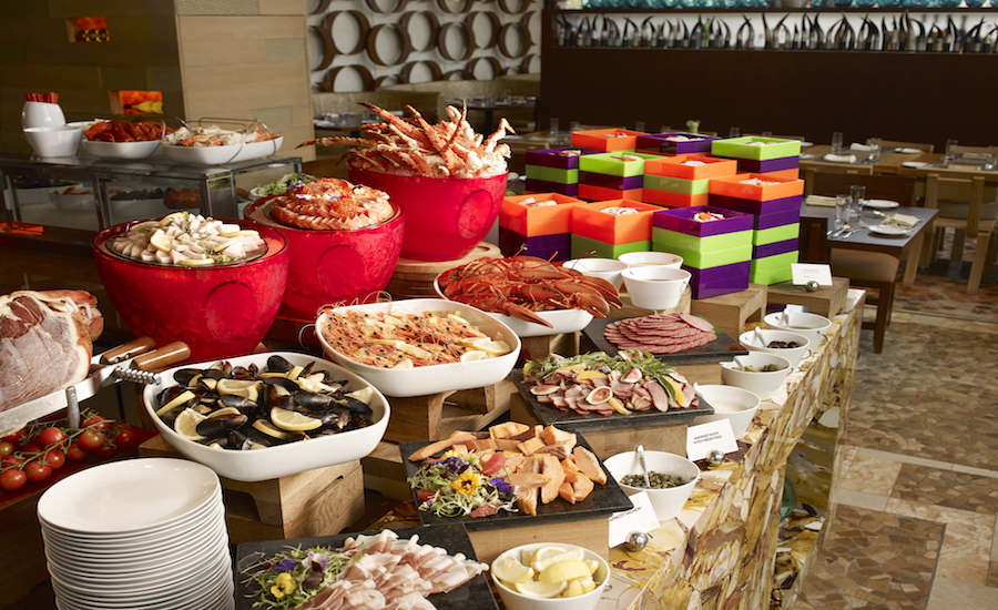 Champagne brunch in singapore w singapore sentosa cove for W hotel in room dining menu singapore