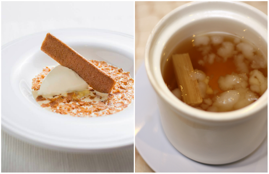 L: Durian soup (Credit: Candlenut FB page), R: Hashima (Credit: Flickr/ boo lee)