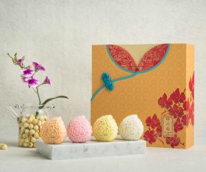 Selection of Mini Snowskin Mooncakes with Mooncake Box