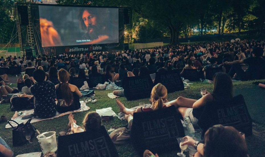 sit back and enjoy an award-winning film on Singapore's largest outdoor screen.