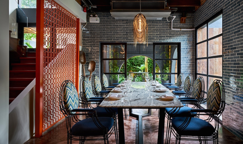 Freebird's dining area is ideal for groups