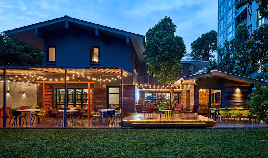 Freebird's outdoor dining area