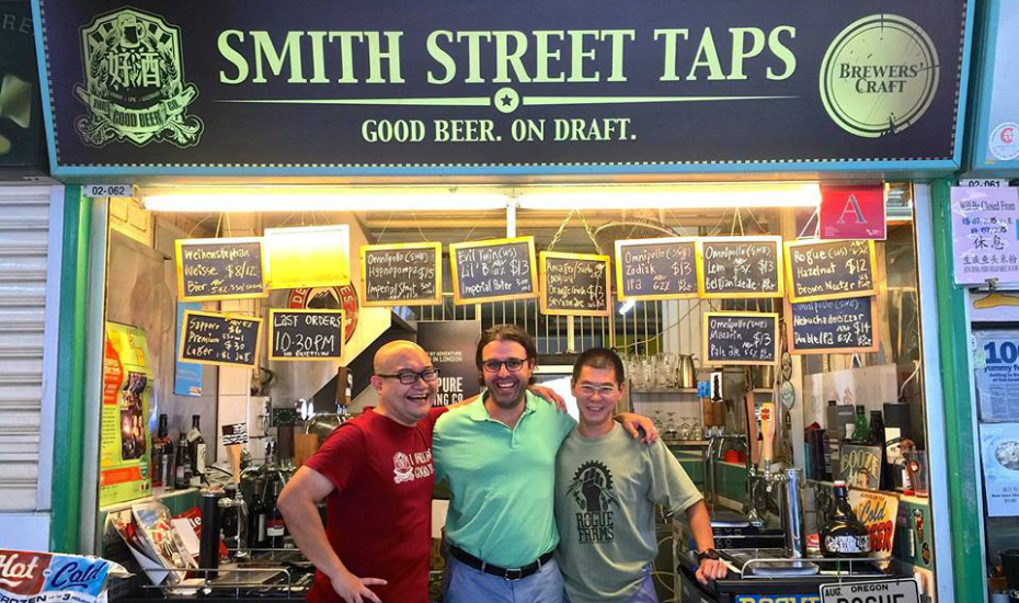 Craft beer in the heart of a Chinatown hawker centre? Sold (Credit: Smith Street Taps FB page)