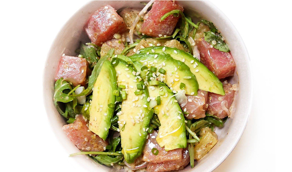 Ahi poke bowl from Sprout